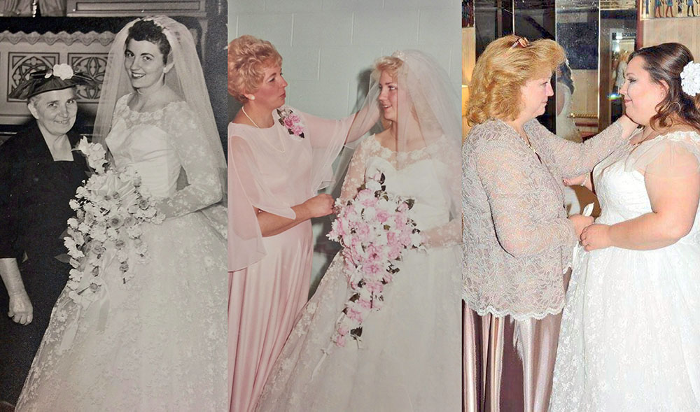 Unique dress beautifully restored for 3rd generation bride – Kimmel ...